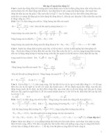 Bài tập về mạch dao động LC có giải