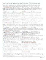 CHUYEN DE AXIT CACBOXYLIC TRONG ĐÊ THI DAI HOC 2007-2012