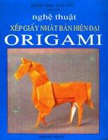 Nghệ thuật xếp giấy nhật bản hiện đại origami