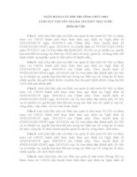 Ngân hàng câu hỏi thi công chức lĩnh vực chuyên ngành tổ chức nhà nước 2013