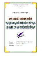 SÁNG KIẾN KINH NGHIỆM DẠY HỌC BẤT PHƯƠNG TRÌNH CHO HỌC SINH GIỎI TOÁN LỚP 9 TẠO NGUỒN CHO CÁC LỚP CHUYÊN TOAN THPT