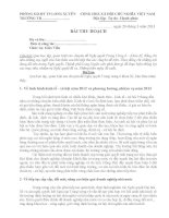 bai thu hoach nghi quyet TW6 khoa XI