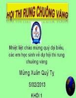 Rung chuông vàng  HK1  12-13