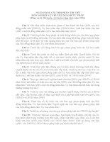 Ngân hàng câu hỏi thi công chức lĩnh vực chuyên ngành tư pháp 2013