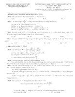 Đề khảo sát chất lượng Toán lớp 9 ngày 16-3-2013
