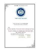 Báo cáo thực tập tốt nghiệp Kế Toán Tập Hợp chi phí  Sản Xuất Và Tính Giá Thành Sản Phẩm tại công ty tnhh một thành viên  bê tông ticco