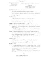 đề thi học kì 1 môn toán lớp 12 tỉnh Đồng Nai