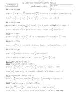 bài tập phương trình lượng giác cơ bản