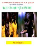 BÀI 32 CÁC KHU VỰC CHÂU PHI