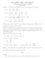 Đề kiểm tra 1 tiết số học 6 tiết 93 đề số 2