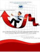 tầm quan trọng của việc thực hiện trách nhiệm xã hội của doanh nghiệp (csr) đối với sự phát triển doanh nghiệp