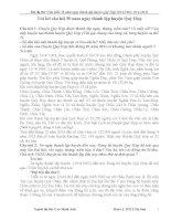 Bài dự thi Tìm hiểu lịch sử 50 năm ngày thành lập huyện Quỳ Hợp