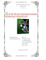 Đọc và tìm hiểu sách Discovering Advanced Algebra qua chương xác suất