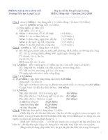 Đáp án đề thi HSG vòng trường - NH 2012-2013
