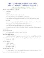 Giáo án dạy học theo phương pháp bàn tay nặn bột môn hóa học lớp 8 (FULL)