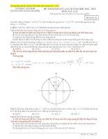 Hướng dẫn đề thi thử chuyên Thái Bình lần 3-2013