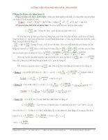 Hướng dẫn tính nguyên hàm-tích phân và một số bài tập chất lượng ôn thi Đại học