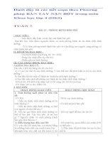 Giáo án bàn tay nặn bột  môn khoa học lớp 4 (HKI)