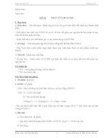 Hóa 8 - Tiết 18: Phản ứng hóa học