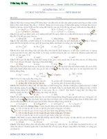 ĐỀ KIỂM TRA SỐ 3 CHƯƠNG CƠ HỌC VẬT RẮN MÔN VẬT LÝ 12
