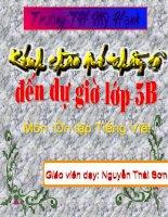 ôn tập Tiêng Việt 5- tiết 4- HKII