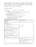 Giáo án bàn tay nặn bột  môn khoa học  lớp 4 (HKII)