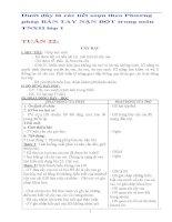Giáo án bàn tay nặn bột  môn TNXH lớp 1