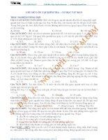 CHỦ ĐỀ 5 ÔN TẬP KIỂM TRA CƠ HỌC VẬT RẮN TRẮC NGHIỆM TỔNG HỢP ÔN THI ĐẠI HỌC 2015