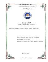 Báo cáo Thực tập tốt nghiệp phòng GD&ĐT Thanh Oai - K3