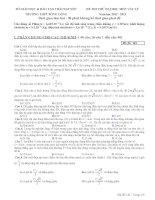 Đề thi thử đại học môn vật lý Trường THPT Sông Công lần 1 năm 2013
