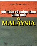 bối cảnh và chính sách ngôn ngữ ở malaysia