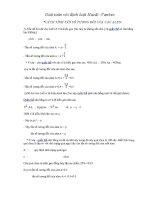 Giải toán với định luật Hacdi Vanbec