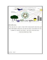 Ứng dụng ảnh viễn thám để thành lập bản đồ sử dụng đất năm  tỷ lê 1 5000  xã hồng dương, huyện thanh oai, tp hà nội