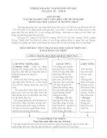 Chuyên đề vận dụng kiến thức liên môn trong dạy học Lịch sử Trường THCS