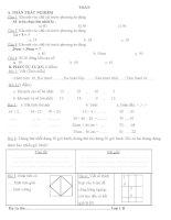 đề ôn toán - TV lớp 1 giữa kì 2
