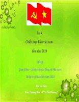 Bài 4.2 Quan điểm, chính sách về Biển Việt Nam