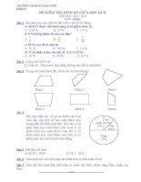 Đề thi giữa học kì 2 môn toán lớp 5