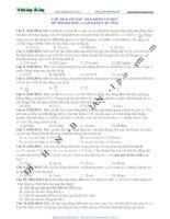 CHỦ ĐỀ 6: ÔN TẬP DAO ĐỘNG CƠ HỌC  ĐỀ THI ĐAI HỌC CAO ĐẲNG CÁC NĂM