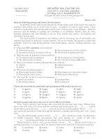 đề kiểm tra học kỳ 2 tiếng anh 12 trường THPT Ngô Quyền