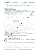 CHỦ ĐỀ 1 ĐẠI CƯƠNG VỀ DAO ĐỘNG ĐIỀU HÒA VẬT LÝ 12