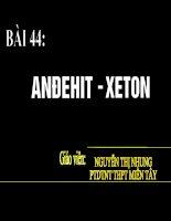 Bài 44: Anđehit-xeton (GV: Nguyễn Thị Nhung)