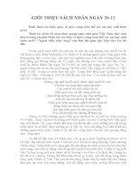 Giới thiệu sách nhân ngày 20/11