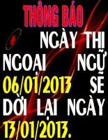 THONG BAO DUA TIVI LICH NGHI TÊT
