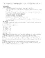 đề cương ôn tập  môn vật lí 7 học kì II