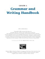 grammar and writing handbook grade 6