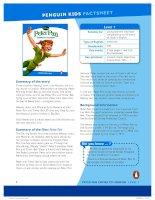 peter pan factsheet