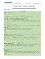 CHỦ ĐỀ 4 SÓNG ÂM VÀ HIỆU ỨNG DOPPLER