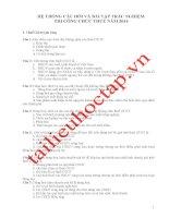 Hệ thống câu hỏi và bài tập thi trắc nghiệm công chức thuế 2014