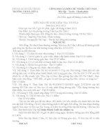 biên bản tự kiểm tra thi đua 2013
