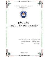 Báo cáo thực tập tốt nghiệp tại phòng GD  ĐT Kỳ Sơn  Hòa Bình